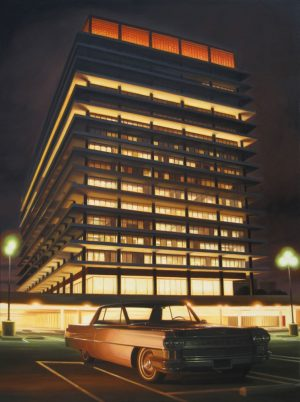 danny heller dwp building at night