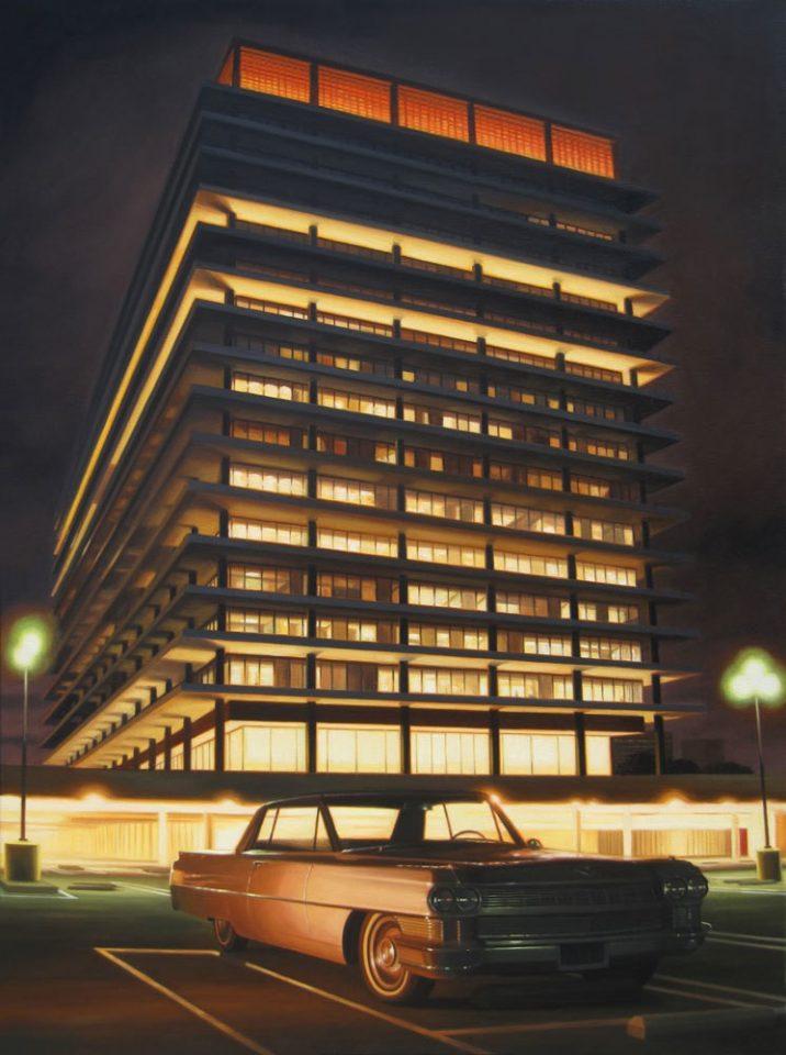 danny heller dwp building at night