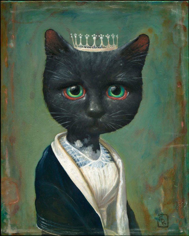 gersten portrait of a black cat