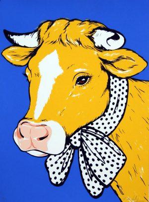 antonio-de-felipe-vaca-amarillo-fondo-azul-tirada--unidades-50