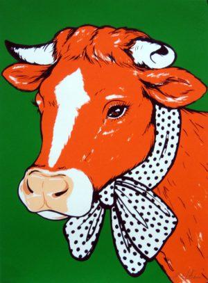 antonio-de-felipe-vaca-naranja-fondo-verde