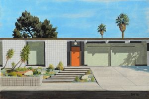 danny-heller-Eichler-With-Red-Door-Gouache