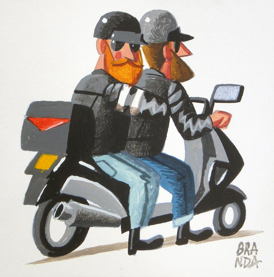 branda-Bikers-modernos-en-scooter-19x19-ap