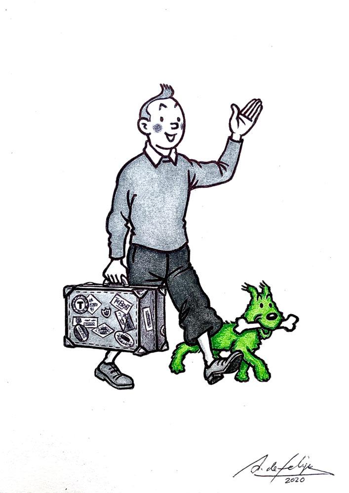 antonio-de-felipe-tintin-raro-como-un-perro-verde