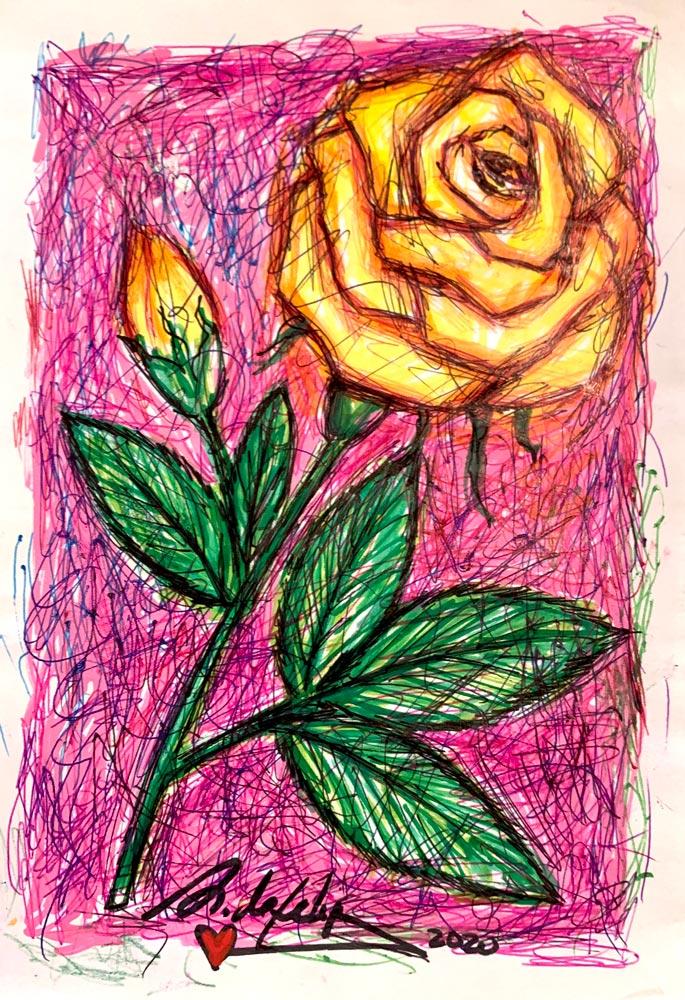 antonio-de-felipe-rosa-amarilla-fondo-rosa