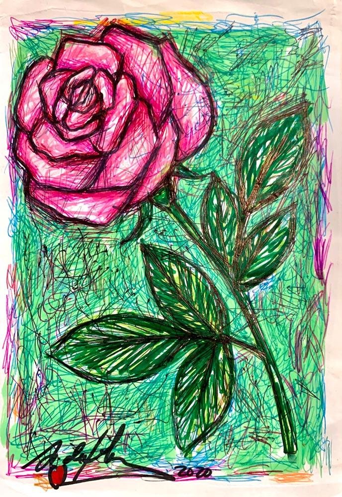 antonio-de-felipe-rosa-fondo-verde