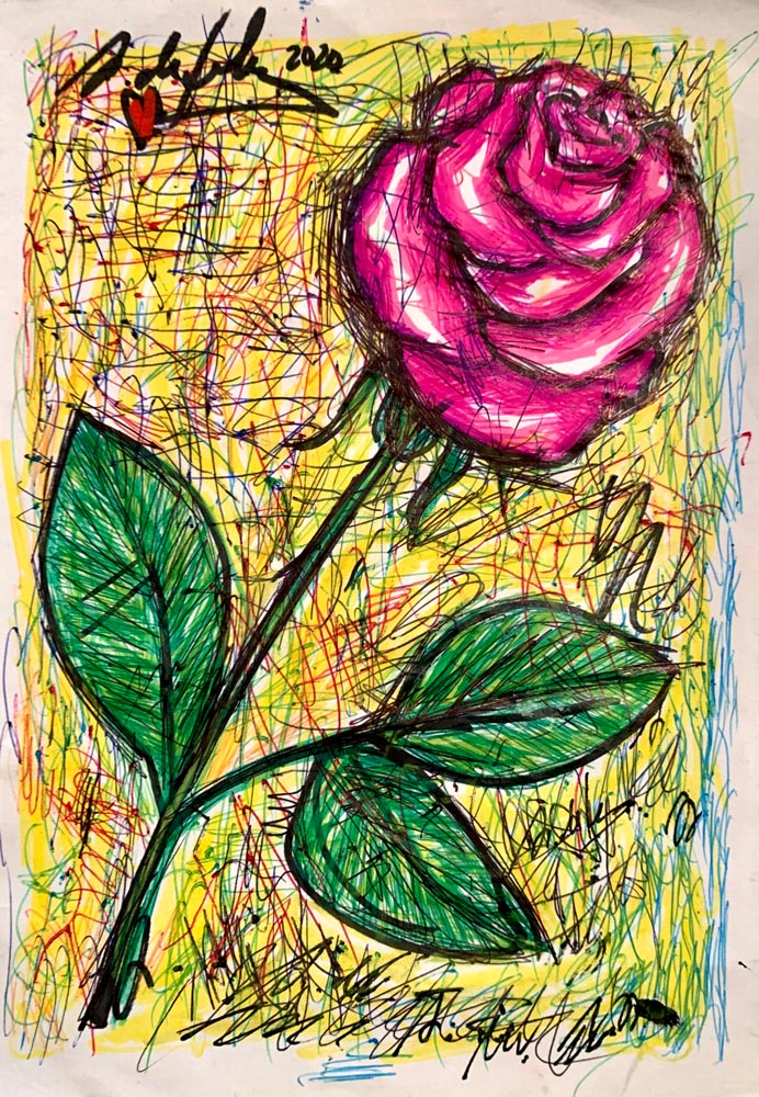 antonio-de-felipe-rosa-roja-fondo-verde