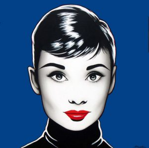 antonio-de-felipe-Black-Audrey-fondo-azul.-oscuro-50x50-cmjpg