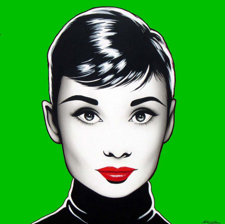 antonio-de-felipe-Black-Audrey-fondo-verde-50x50-cm