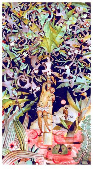 roberto-majan-San-Sebastian-de-los-monos-edit-30x57-print