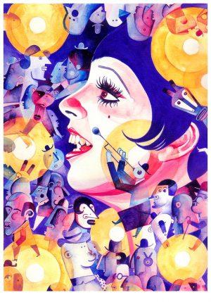 roberto-majan-She-makes-the-world-go-round21x30