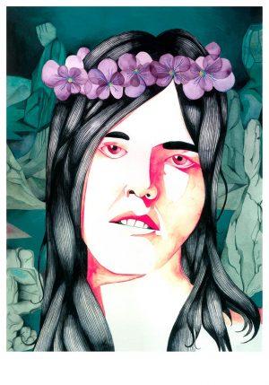 roberto-majan-una-corona-de-violetas21x30-print